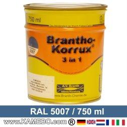 BRANTHO-KORRUX 3in1 Rostschutzlack RAL 5007 Brillantblau 5 Liter