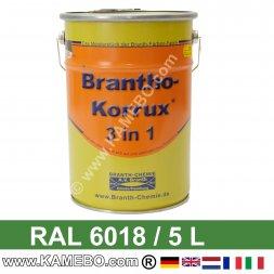 BRANTHO-KORRUX 3in1 Rostschutzlack RAL 6018 Gelbgrün 5 Liter