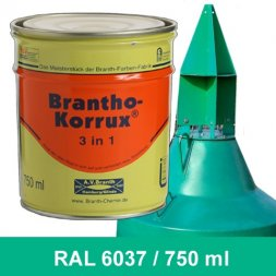 BRANTHO-KORRUX 3in1 Vernice Antiruggine RAL 6037 Verde puro 750 ml