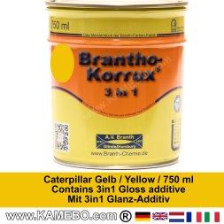 BRANTHO-KORRUX 3in1 Rostschutzlack Caterpillar Gelb 750 ml