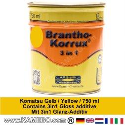 BRANTHO-KORRUX 3in1 Rostschutzlack Komatsu Gelb 750 ml