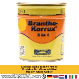 BRANTHO-KORRUX 3in1 Vernice Antiruggine Giallo per Liebherr 750 ml