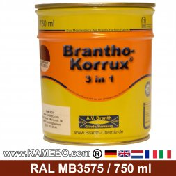 BRANTHO-KORRUX 3in1 Anti Roest Lakverf Mercedes-Benz Chassis MB3575 Ossenbloed 750 ml