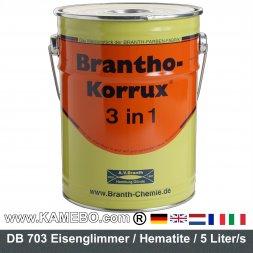 BRANTHO-KORRUX 3in1 Rostschutzlack DB 703 Glimmeranthrazit 5 Liter