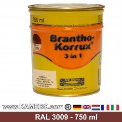 BRANTHO-KORRUX 3in1 Rostschutzlack RAL 3009 Rotbraun 750 ml