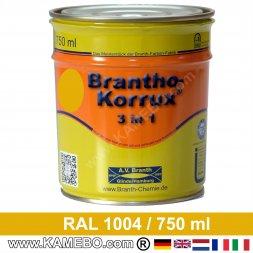 BRANTHO-KORRUX 3in1 Rostschutzlack RAL 1004 Goldgelb 750 ml