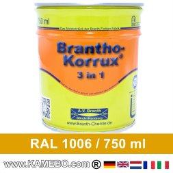 BRANTHO-KORRUX 3in1 Rostschutzlack RAL 1006 Maisgelb 750 ml