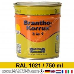 BRANTHO-KORRUX 3in1 Rostschutzlack RAL 1021 Rapsgelb 750 ml