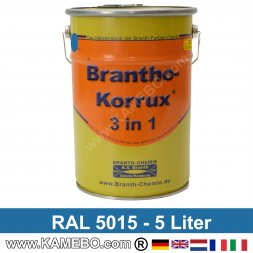 BRANTHO-KORRUX 3in1 Rostschutzlack RAL 5015 Himmelblau 5 Liter