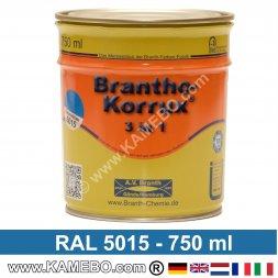 BRANTHO-KORRUX 3in1 Rostschutzlack RAL 5015 Himmelblau 750 ml