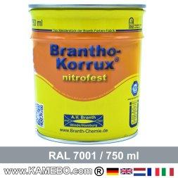 BRANTHO-KORRUX NITROFEST Korrosionsschutzlack RAL 7001 Silbergrau 750 ml