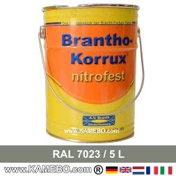 BRANTHO-KORRUX NITROFEST Korrosionsschutzlack RAL 7023 Betongrau 5 Liter