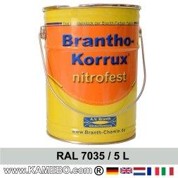BRANTHO-KORRUX NITROFEST Korrosionsschutzlack RAL 7035 Lichtgrau 5 Liter