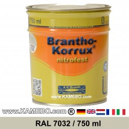 BRANTHO-KORRUX NITROFEST Korrosionsschutzlack RAL 7032 Kieselgrau 750 ml