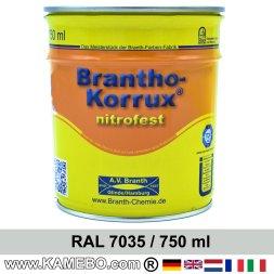 BRANTHO-KORRUX NITROFEST Korrosionsschutzlack RAL 7035 Lichtgrau 750 ml