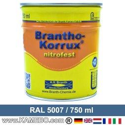 BRANTHO-KORRUX NITROFEST Korrosionsschutzlack RAL 5007 Brillantblau 750 ml