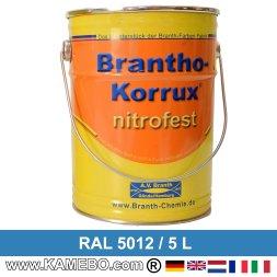 BRANTHO-KORRUX NITROFEST Korrosionsschutzlack RAL 5012 Lichtblau 5 Liter
