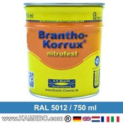 BRANTHO-KORRUX NITROFEST Korrosionsschutzlack RAL 5012 Lichtblau 750 ml